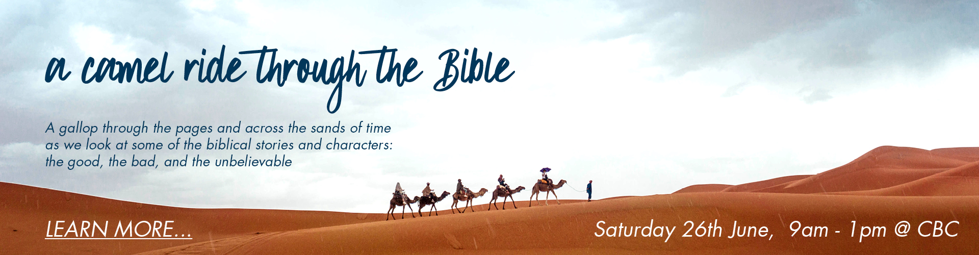 CBC Womens Ministry Camel Ride through the Bible